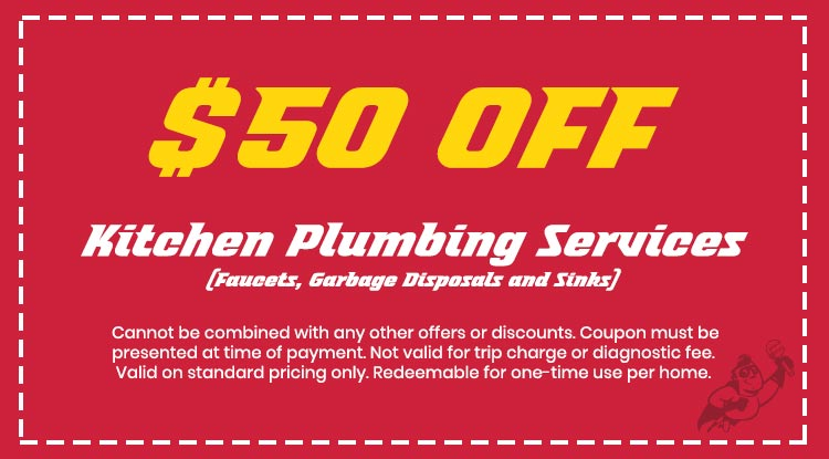 Discount on Kitchen Plumbing Services