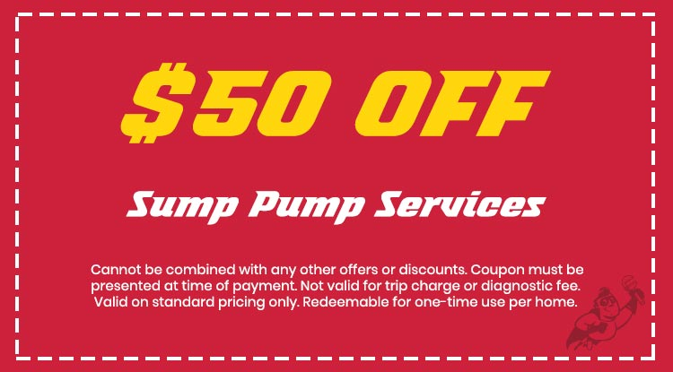 Discount on Sump Pump Services