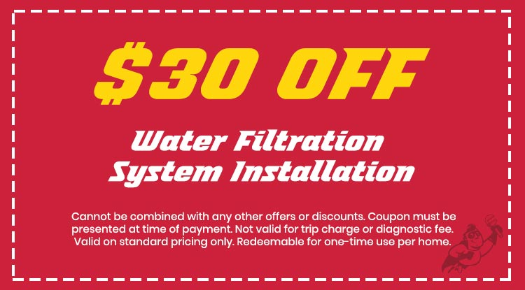 Discount on Water Filtration System Installation