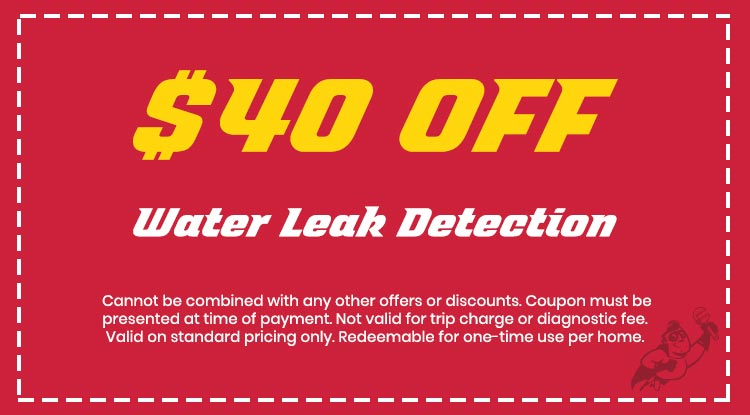 Discount on Water Leak Detection